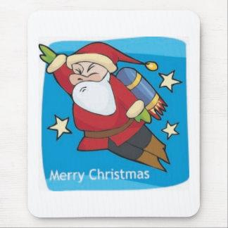 Santa Rocket Mouse Pad