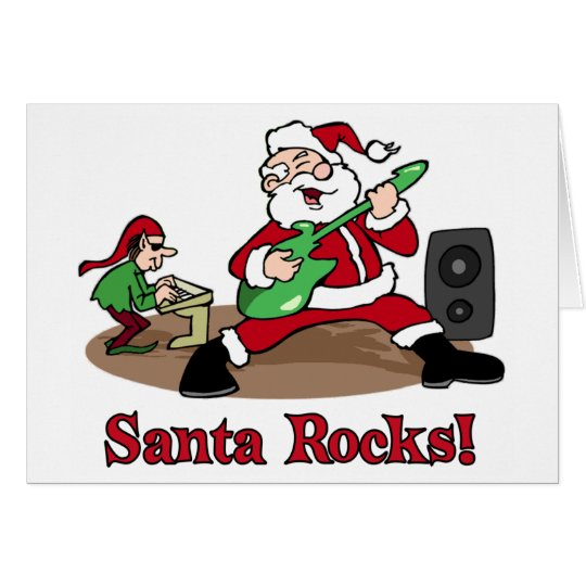 Santa Rocks Christmas card
