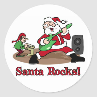 Santa Rocks stickers