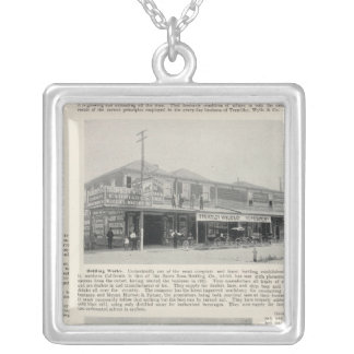 Santa Rosa, California 2 Silver Plated Necklace