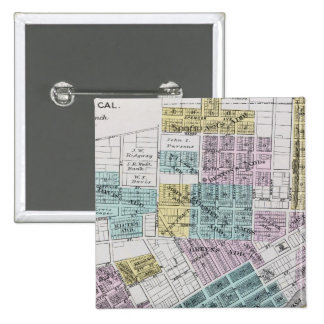 Santa Rosa, California 5 15 Cm Square Badge