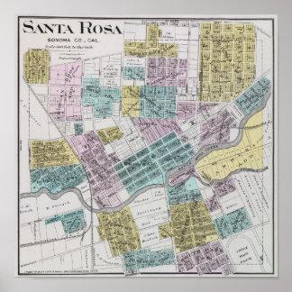 Santa Rosa, California 5 Poster