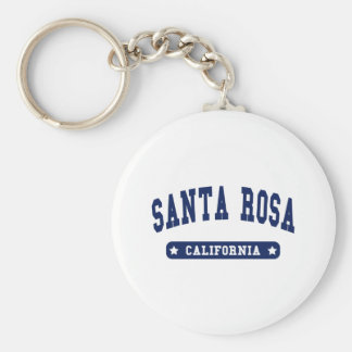 Santa Rosa California College Style tee shirts Basic Round Button Key Ring