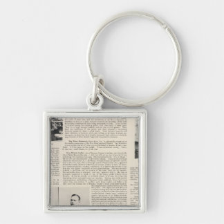 Santa Rosa Offices Minnie Coulter, California Silver-Colored Square Key Ring
