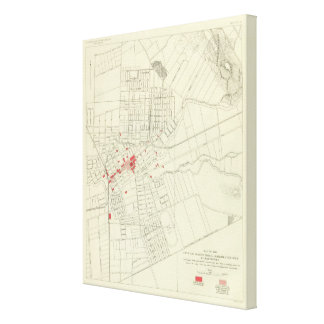 Santa Rosa, portions destroyed by earthquake Stretched Canvas Prints