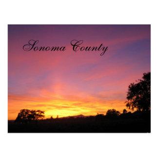 Santa Rosa Sunset Postcard