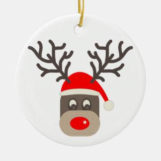 Santa Rudolf Christmas Ornament