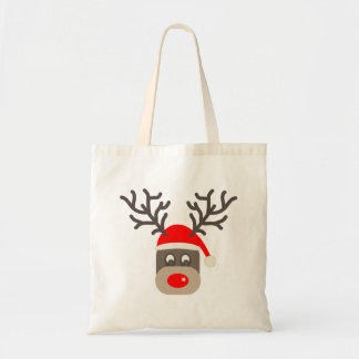 Santa Rudolf Tote Bag