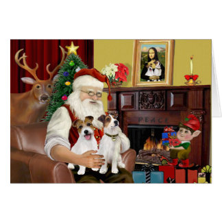 Santa s 2 Jack Russell s Card