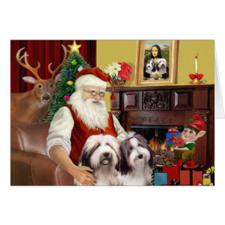 Santa s Bearded Collie Cards