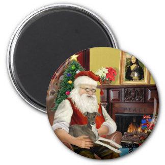 Santa s Cream Italian Greyhound Refrigerator Magnet