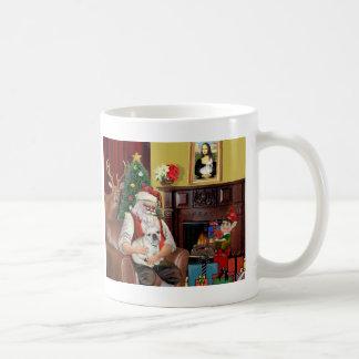 Santa s French Bulldog fawn Mugs