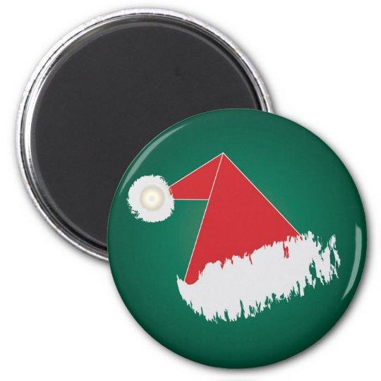 Santa 's hat 6 cm round magnet