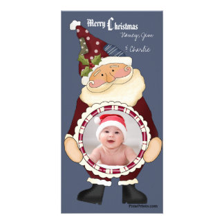 Santa s Hug - Photo Holiday Card Picture Card