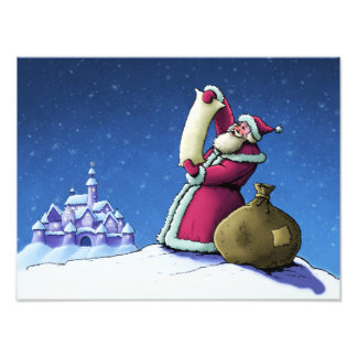 santa s list happy holidays photo print