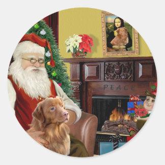 Santa s Nova Scotia Retriever Sticker