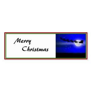 Santa s Sleigh Ride Business Cards