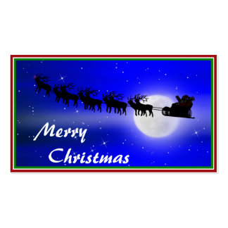Santa s Sleigh Ride Business Card Template