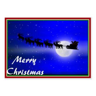 Santa s Sleigh Ride Business Card Templates