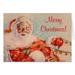 Santa,s Sleigh Ride Christmas Greeting Card