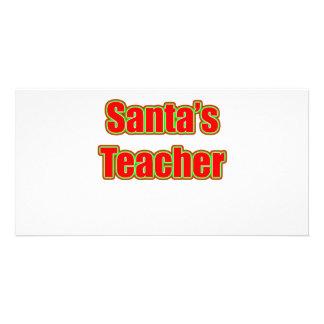 Santa s Teacher Photo Cards
