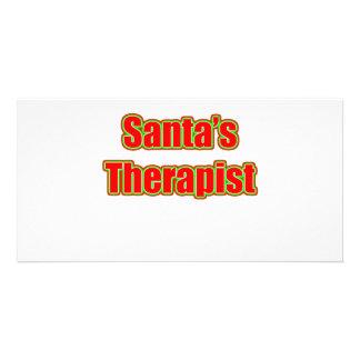 Santa s Therapist Picture Card