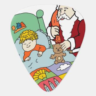 Santa s Visit II Guitar Pick
