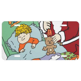 Santa s Visit II License Plate
