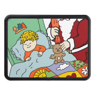 Santa s Visit II Tow Hitch Covers