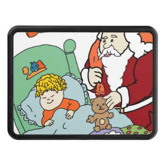 Santa s Visit II Trailer Hitch Covers