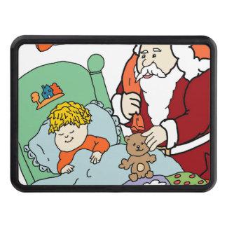 Santa s Visit II Trailer Hitch Covers