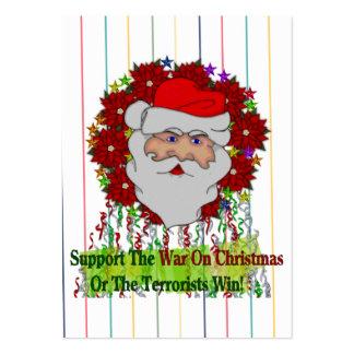 Santa s War On Xmas Business Card Template