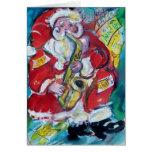 SANTA & SAX, CHRISTMAS PARTY GREETING CARDS