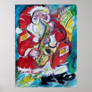 SANTA & SAX, CHRISTMAS PARTY POSTER
