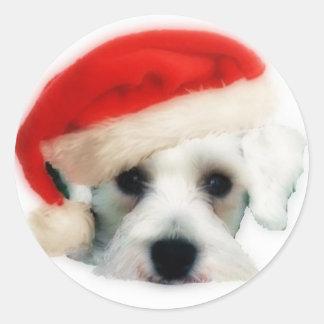 Santa Schnauzer Sticker