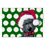 Santa Scottie Dog Christmas Card
