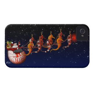 Santa & Seahorse Sleigh iPhone 4 Case