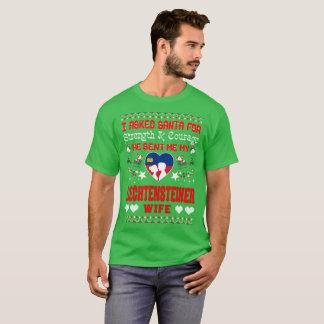 Santa Sent Liechtensteiner Wife Christmas Ugly Tee