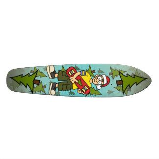 Santa Skater Boy Skate Deck