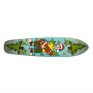 Santa Skater Boy Skateboard Deck