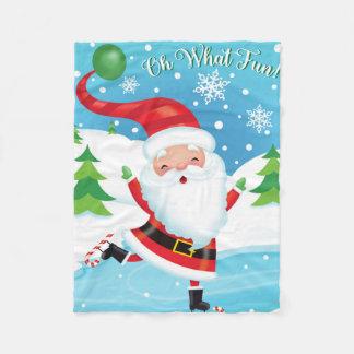 Santa Skating Blanket