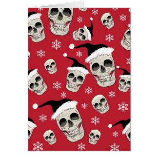 Santa Skelly Greetings Greeting Card