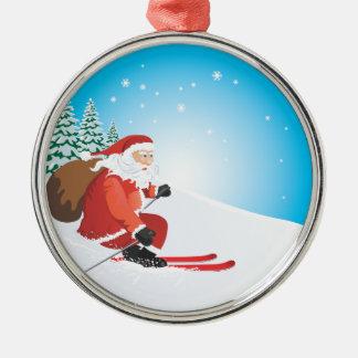 Santa Ski Premium Ornament