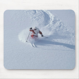 Santa Skiing at Snowbird Ski Resort, Wasatch Mouse Pad