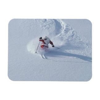 Santa Skiing at Snowbird Ski Resort, Wasatch Rectangular Photo Magnet