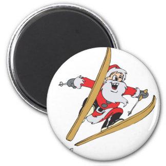 Santa Skiing Magnets