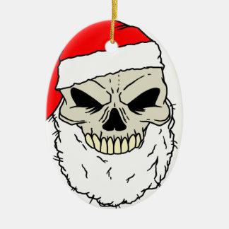 Santa Skull Christmas Ornament