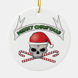 Santa Skull & Crossbones Christmas Ornament