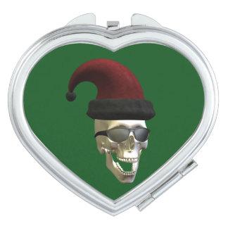 Santa Skull Heart Mirror For Makeup