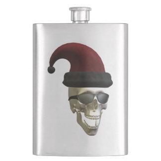 Santa Skull Hip Flask